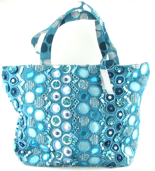 Blue Handbag on White Background