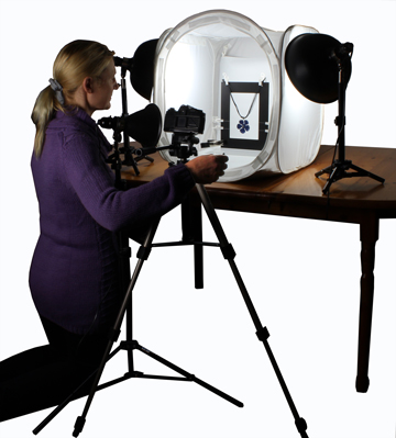 "TableTop Studio EZcube EZstaging Freeze Frame Kit inside a 20"" 50cm EZcube"