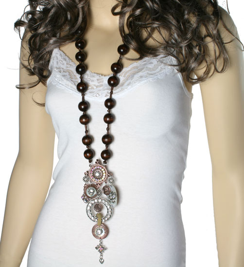 Mannequin wearing necklace